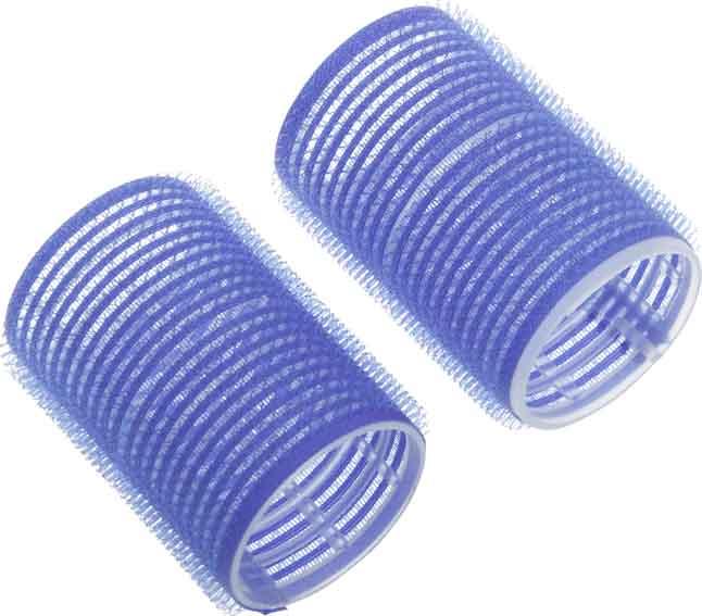 DEWAL BEAUTY Бигуди-липучки синие, d 40x63 мм 10 шт цена