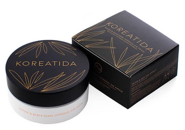 Купить KOREATIDA Патчи гидрогелевые с пептидами и экстрактом жемчуга для глаз / peptide & black pearl hydrogel eye patch 60 шт