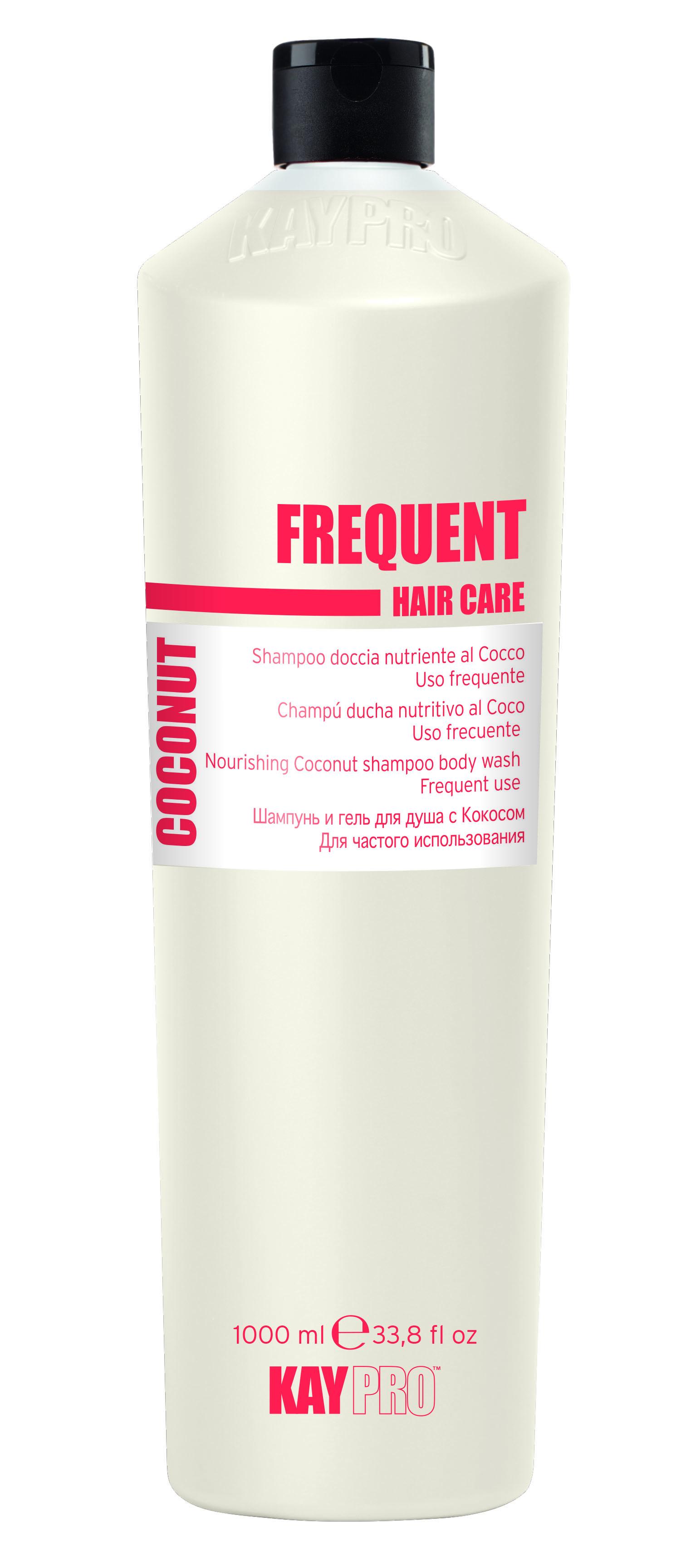 KAYPRO Шампунь и гель для душа с кокосом для частого использования / KAYPRO 1000млГели<br>ШАМПУНЬ И ГЕЛЬ ДЛЯ ДУША С КОКОСОМ ДЛЯ ЧАСТОГО ИСПОЛЬЗОВАНИЯ. Идеально подходит для всех типов волос, оказывает питательное и смягчающее действие. Формула с физиологическим уровнем pH делает его особенно подходящим для ежедневного очищения волос и тела. Активные ингредиенты: экстракт кокоса. Способ применения: нанести на мокрое тело и волосы, помассировать, после чего смыть водой.<br><br>Объем: 1000 мл