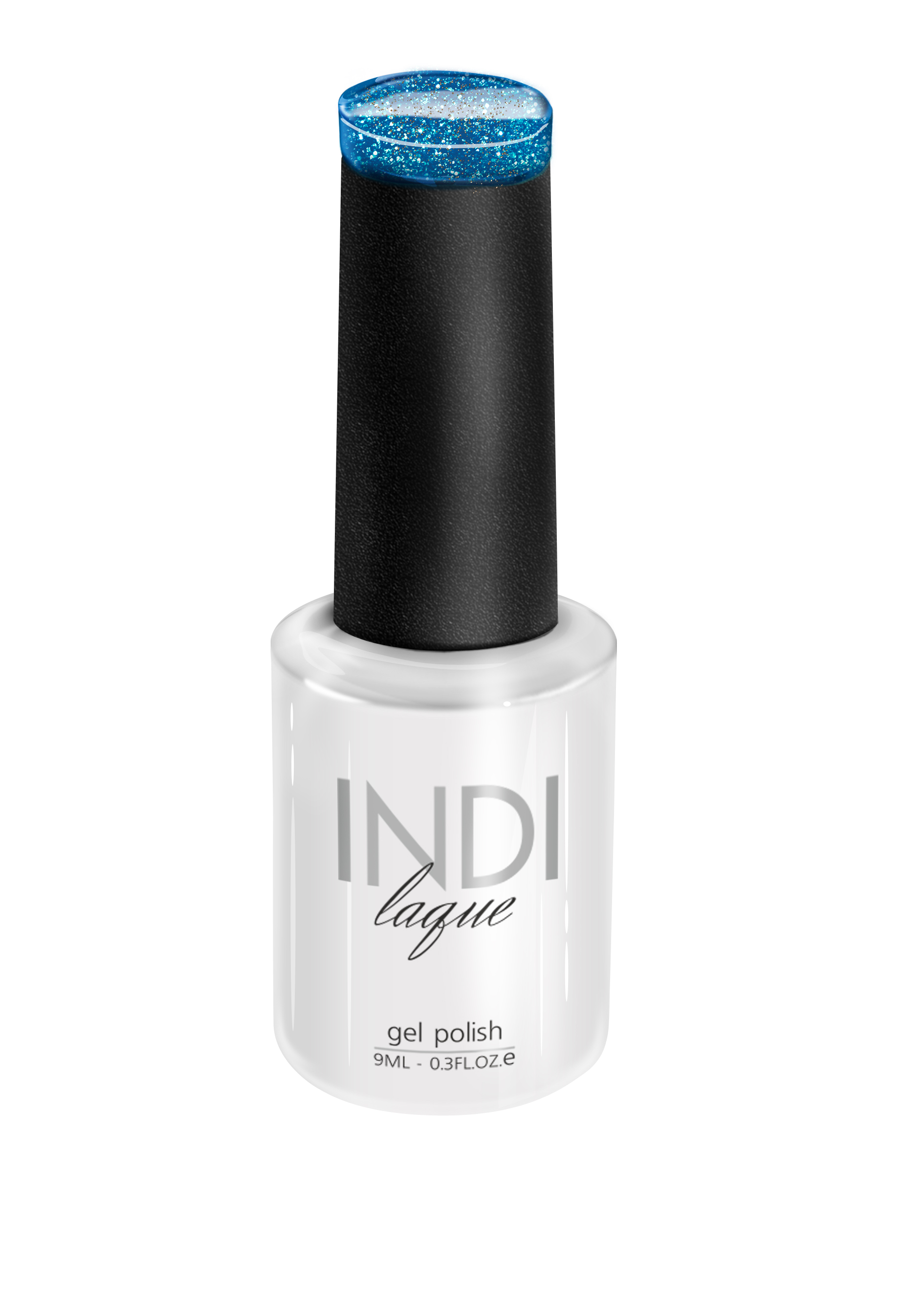 Купить RuNail 3712 гель-лак для ногтей / INDI laque 9 мл, Синие