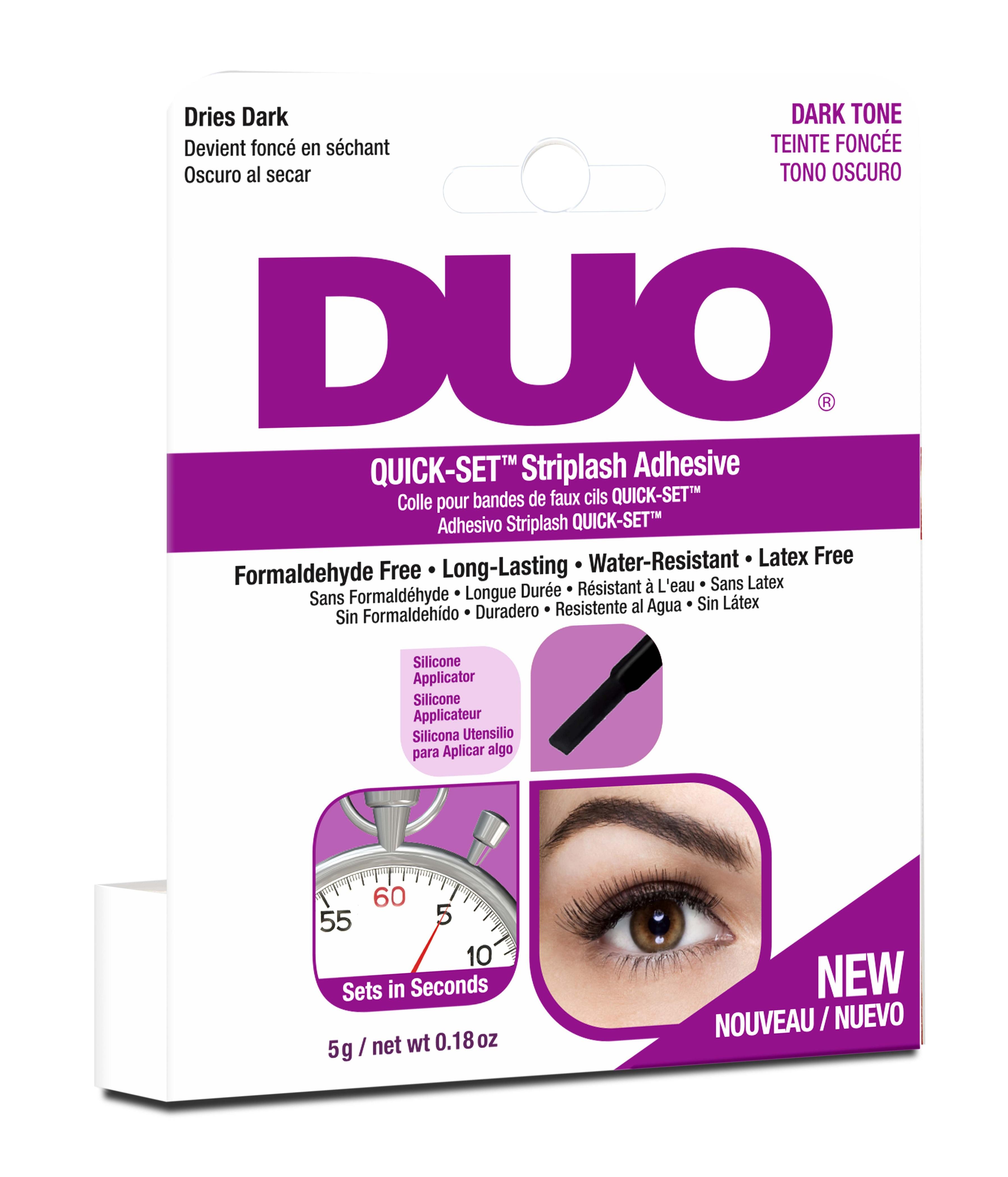 DUO Клей для накладных ресниц, быстрая фиксация, черный / Duo quick-set Striplash Adhesive Dark 5 г