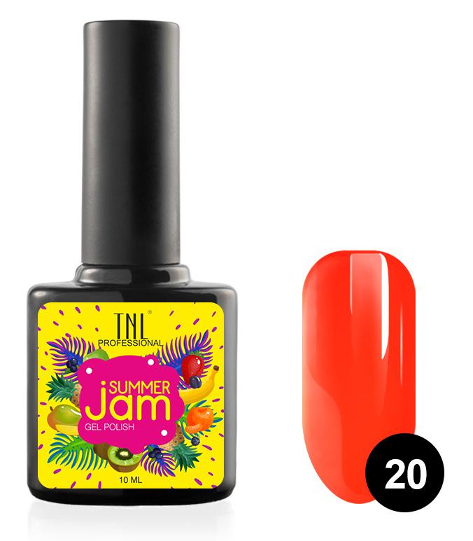 Купить TNL PROFESSIONAL 20 гель-лак для ногтей, неоновый рыжий / Summer Jam 10 мл