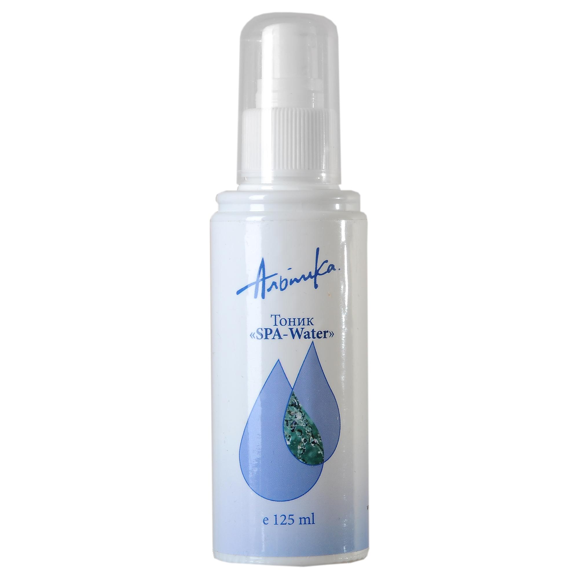 АЛЬПИКА Тоник SPA-WATER для лица 125млТоники<br>Минеральные соли и микроэлементы, входящие в состав тонизирующей воды, прекрасно освежают, увлажняют и тонизируют кожу, укрепляя её защитные функции. Обладает успокаивающим действием на чувствительную кожу, снимает отечность и покраснения. Активные ингредиенты: 100% чистая природная слабоминерализованная вода, гиалуроновая кислота. Способ применения: использовать утром и вечером для ухода за чувствительной кожей лица, рук, тела; в течение дня-для достижения освежающего эффекта. Распылите воду, оставьте на несколько секунд, для воздействия при необходимости промокните остатки бумажной салфеткой.<br><br>Объем: 125 мл<br>Назначение: Отечность
