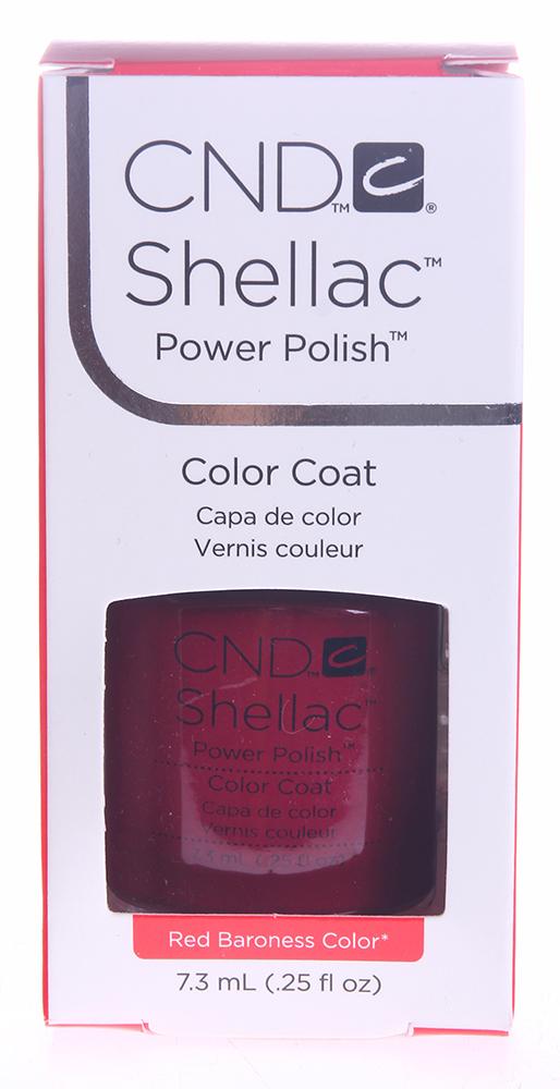 CND 009 покрытие гелевое Red Baroness / SHELLAC 7,3млГель-лаки<br>Цвет: Red Baroness Shellac &amp;ndash; первый гибрид лака и геля, сочетающий в себе самые лучшие свойства профессиональных лаков для ногтей (простота наложения, яркий блеск, богатство цвета) и современных моделирующих гелей (отсутствие запаха, носибельность, нестираемость). Носится как гель, выглядит как лак, снимается за считанные минуты, укрепляет и защищает ногти, гипоаллергенный, создан по формуле 3 FREE, не содержит дибутилфталата, толуола, формальдегида и его смол   все это Shellac! Преимущества: 14 дней   время носки маникюра 2 минуты   время высыхания покрытия Зеркальный блеск и идеальная гладкость маникюра Не скалывается, не смазывается, не трескается Каждое покрытие представлено в непрозрачном флаконе, цвет которого абсолютно идентичен оттенку самого продукта. Флакон не скользит в руке, что делает процедуру невероятно легкой и приятной, а удобная кисточка позволяет нанести средство идеально ровно.<br><br>Цвет: Красные<br>Виды лака: Глянцевые