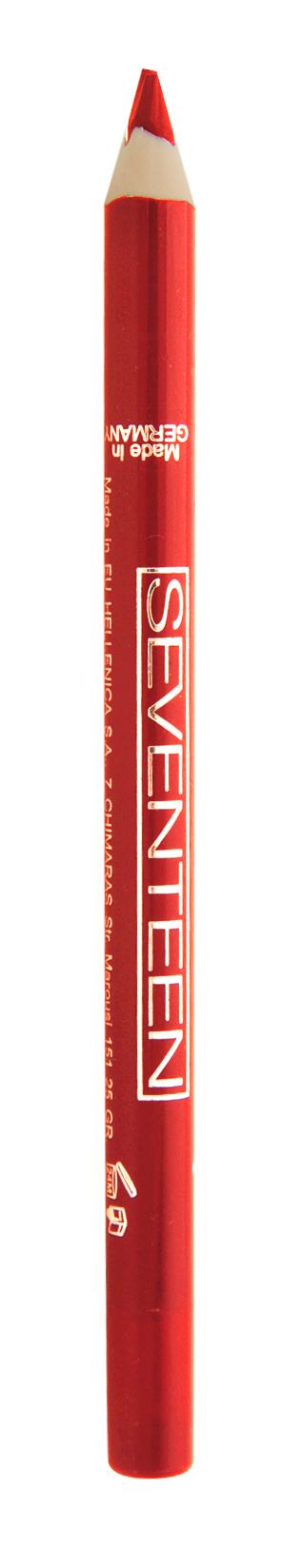 SEVENTEEN Карандаш для губ водостойкий с витамином Е, 27 красный / Super Smooth W/P Lip Liner 1,2 г косметические карандаши seventeen карандаш для губ водостойкий с витамином е super smooth w p lip liner 32