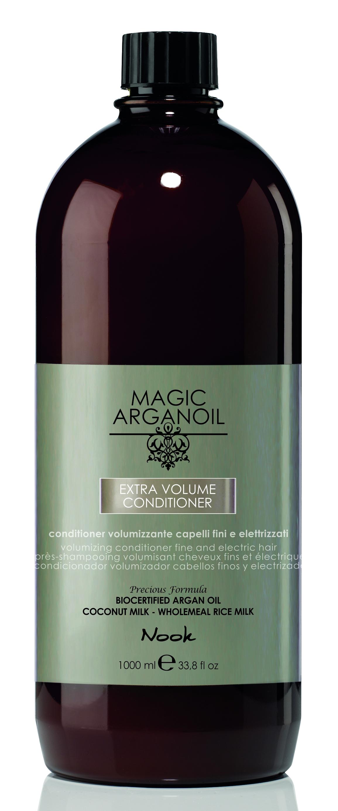 NOOK Кондиционер для придания объема тонким и наэлектризованным волосам / Extra Volume Latte Condtioner MAGIC ARGANOIL 1000 мл.