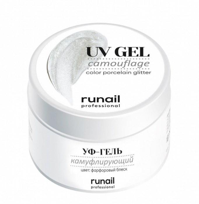 Купить RUNAIL УФ-гель камуфлирующий, фарфоровый блеск 30 г, Белые