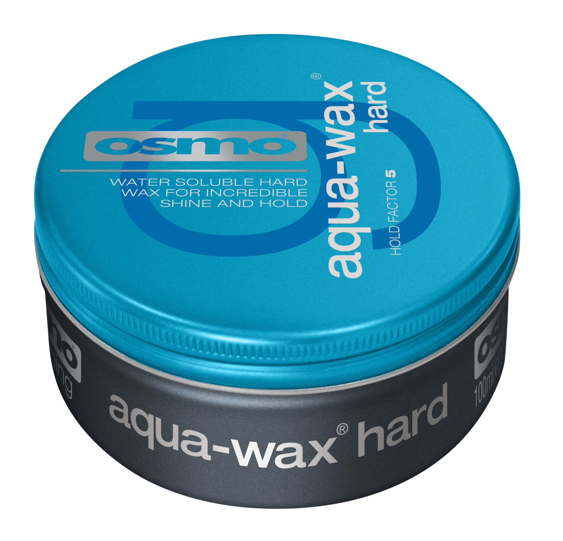 OSMO Гель-воск с эффектом мокрых волос, степень фиксации 4 / Aqua-Wax Hard 100 мл