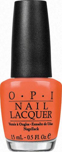 OPI Лак для ногтей / Hot & Spicy HONG KONG 15 мл opi покрытие верхнее быстрая сушка rapidry top coat 15 мл