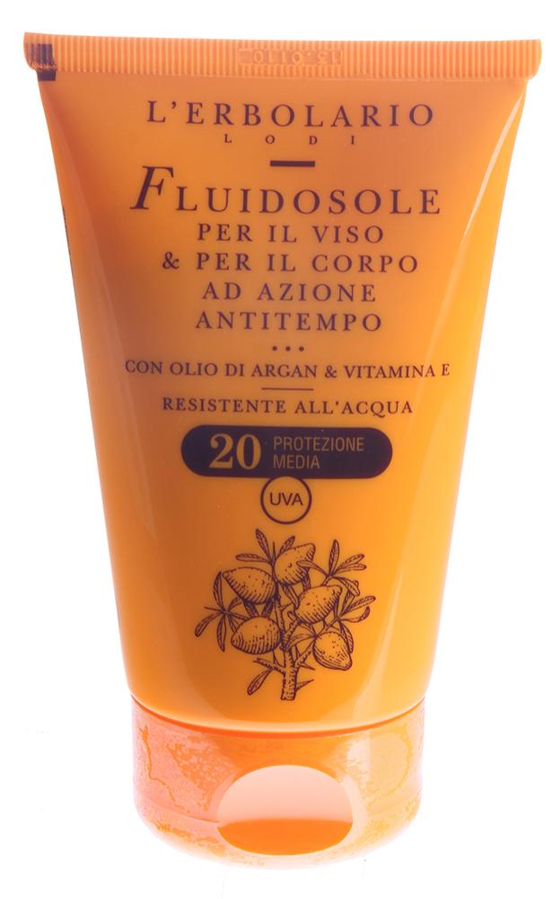 LERBOLARIO Солнцезащитное молочко для лица и тела, предепреждающее старение SPF20 125 мл