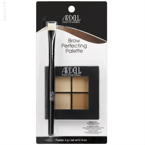 ARDELL Палетка кремовая с хайлайтером и корректорами, с кистью / Brow Perfecting Palette 4 г ardell brow sculpting gel где купить