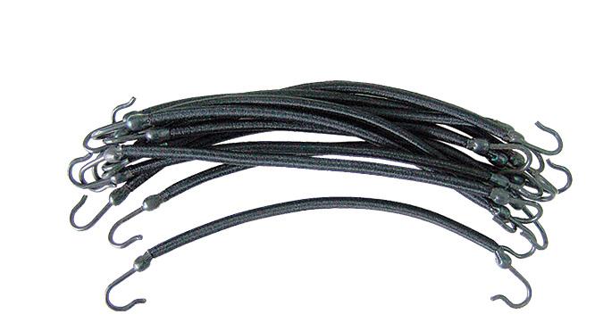 SIBEL Резинки на крючках черные 12 шт.