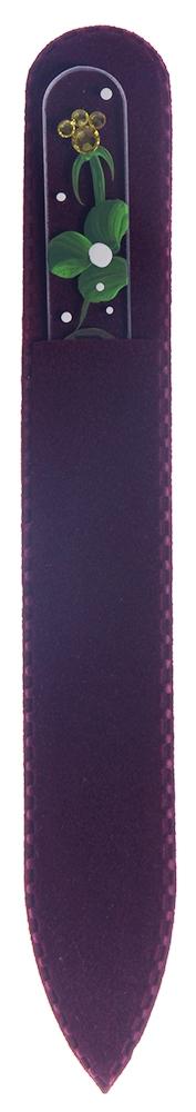 BOHEMIA PROFESSIONAL Пилочка стеклянная прозрачная Ягодка 135ммПилки для ногтей<br>Нет ничего лучше для натуральных ногтей, чем пилка из богемского хрусталя. Данный материал имеет практически неограниченный срок использования. Пилки Bohemia Professional имеют наиболее стойкий абразив. Пилка из богемского хрусталя также может стать стильным аксессуаром или красивым подарком. Bohemia Professional представляет Вам огромный выбор прозрачных и цветных пилок с декором: ручная роспись, декорация стразами, пилки с логотипом, и полноцветные изображения. Инструмент можно стерилизовать и обрабатывать химическими дезинфекторами, антисептиками.<br>
