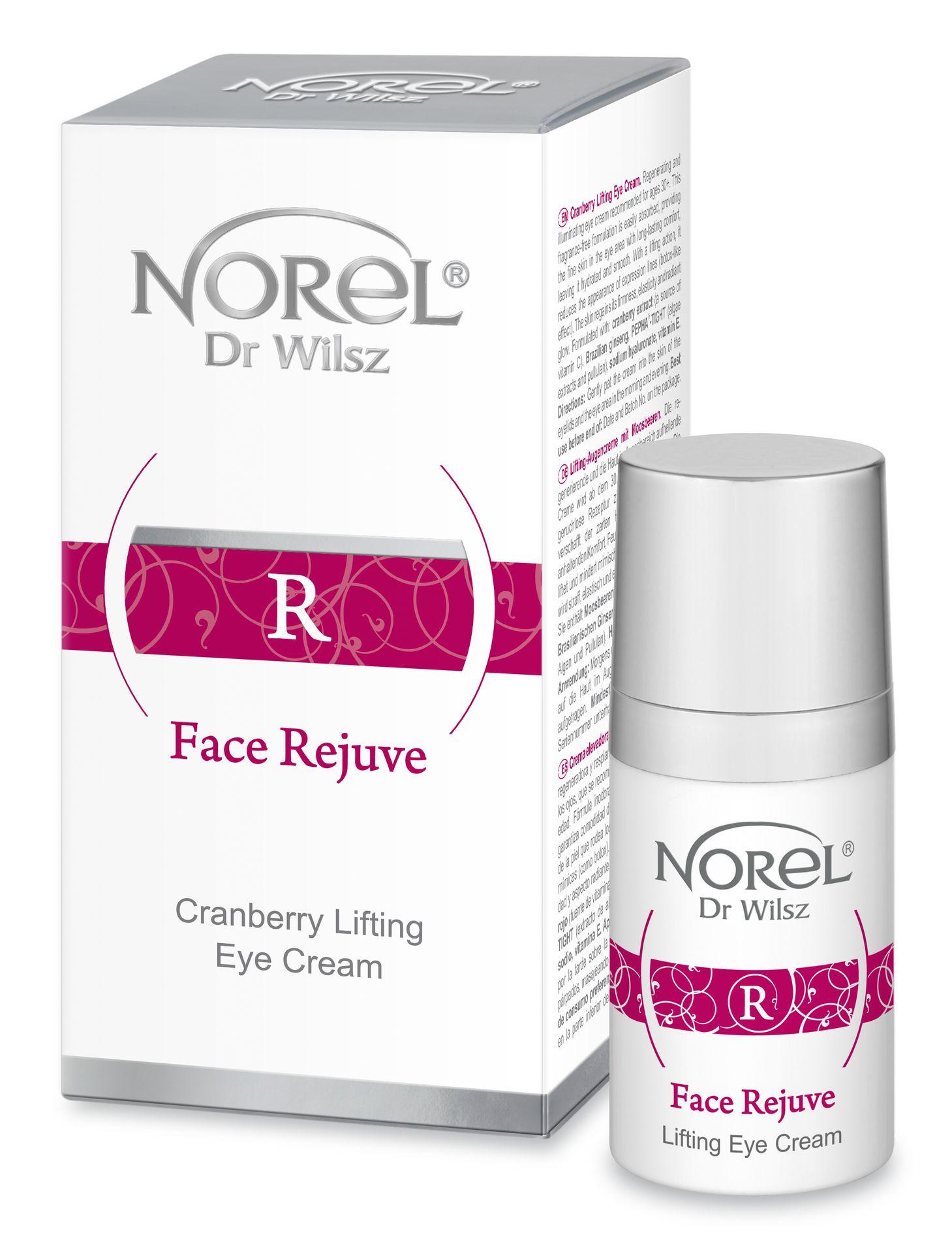 NOREL Dr. Wilsz Эмульсия-лифтинг заполняющая морщины в периорбитальной области, с комплексом синейков и пептидами / Lifting cranberry eye cream 15 мл - Эмульсии