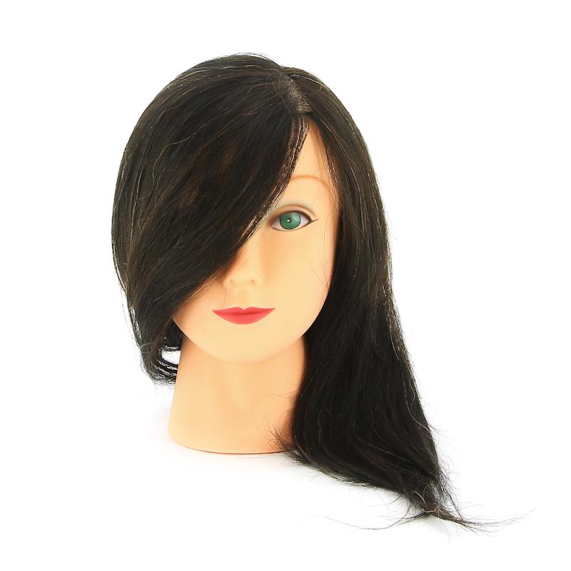 DEWAL PROFESSIONAL Голова учебная брюнетка, натуральные волосы 30-40см манекен с натуральными волосами