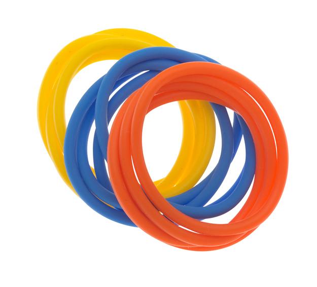Dewal beauty резинки для волос, силикон, голубой, желтый,