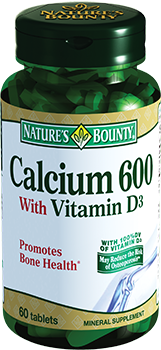 NATURE'S BOUNTY Кальций 600 с витамином Д, таблетки № 60