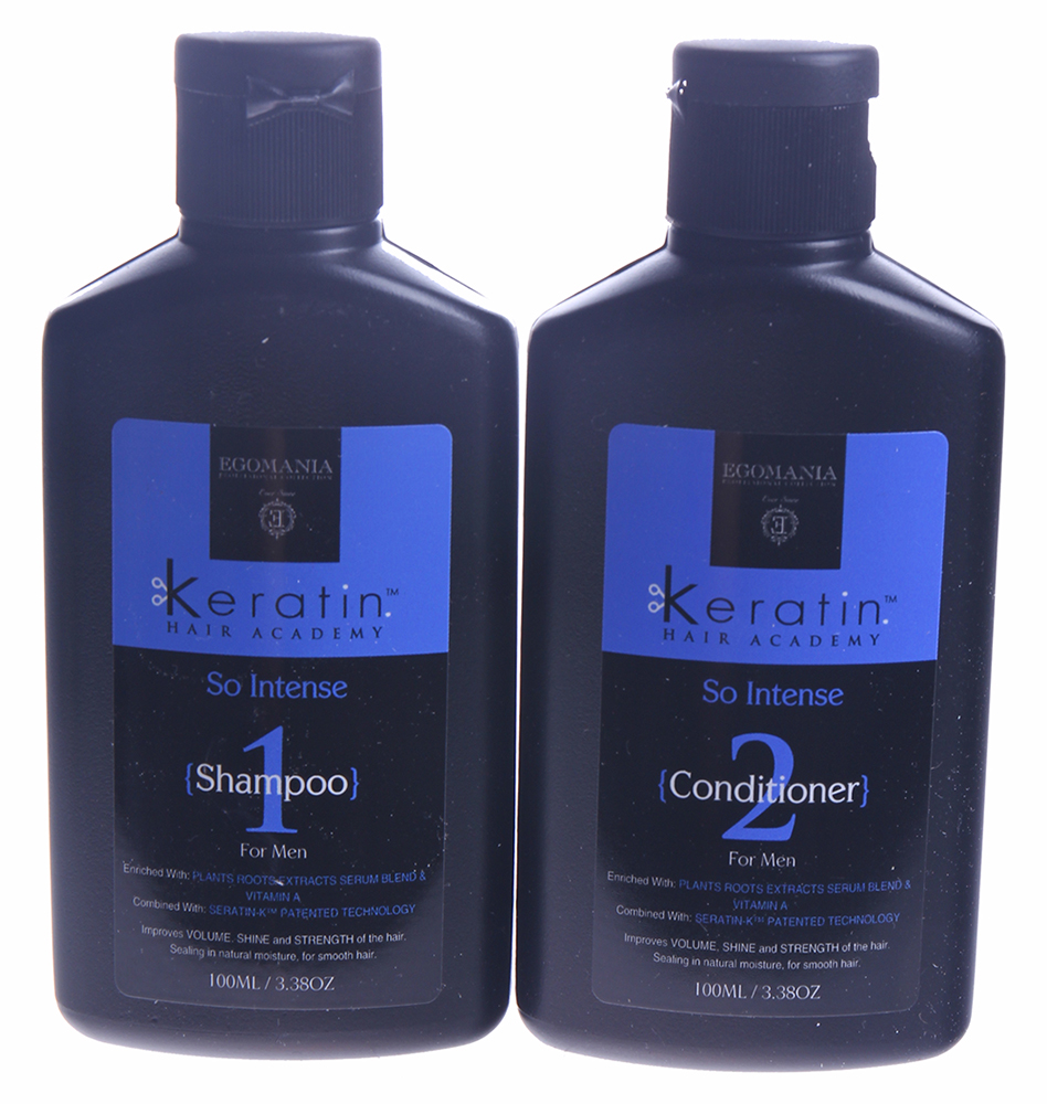 EGOMANIA Набор для мужчин Энергетический заряд (шампунь 100мл + кондиционер 100мл) / KERATIN