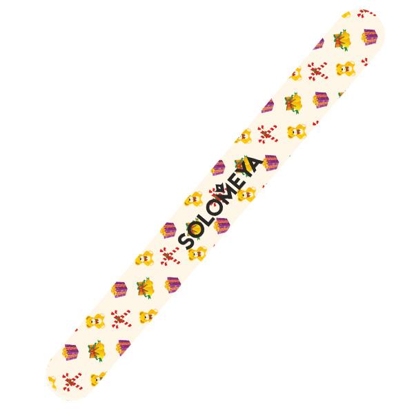 SOLOMEYA Пилка для ногтей 180/220 Рождественское настроение / Christmas spirit Nail File