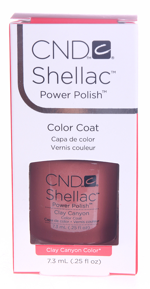 CND 041S покрытие гелевое / Clay Canyon SHELLAC 7,3 мл cnd 058a покрытие гелевое steel gaze shellac 7 3мл