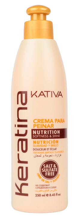 Купить KATIVA Крем укрепляющий с кератином для укладки, для всех типов волос / KERATINA 250 мл