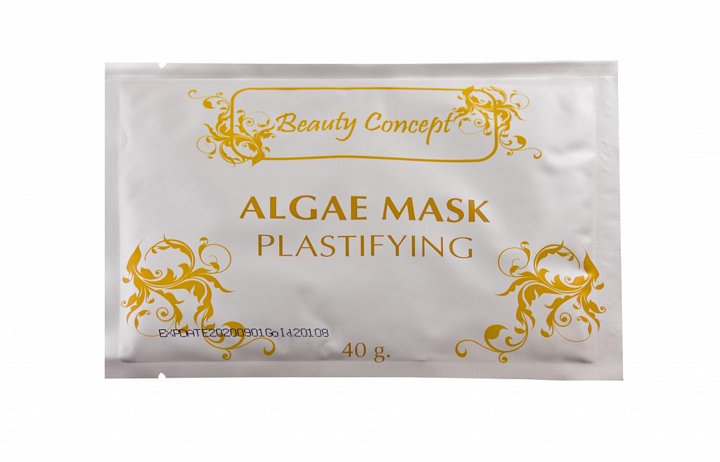 BEAUTY CONCEPT Альгинатная пластифицирующая маска с Зеленым чаем 40грМаски<br>Обладает антиоксидантным, антистрессовым действием, насыщает кожу энергией. Высокое содержание витаминов (В1, В2, С, РР, каротин), микроэлементов и флавоноидов позволяет укреплять, гидратировать, смягчать кожу, уменьшать признаки ее старения. Экстракт зеленого чая восстанавливает эластичность кожи, ее мягкость и водный баланс, восполняет недостаток жидкости и обновляет текстуру кожи всех типов. Высокая концентрация витаминов нейтрализует свободные радикалы, разрушающие клетки кожи. Из-за смягчающих и успокаивающих свойств этого чая средство восстанавливает равновесие поврежденной и чувствительной кожи.<br><br>Вид средства для лица: Альгинатная