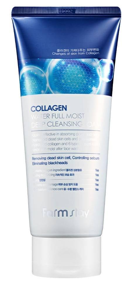 FARMSTAY Пенка очищающая увлажняющая с коллагеном / Collagen moistfull 180 мл фото