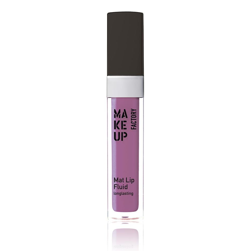 MAKE UP FACTORY Блеск-флюид матовый устойчивый, 84 яркий фиолетовый / Mat Lip Fluid longlasting 6,5 мл