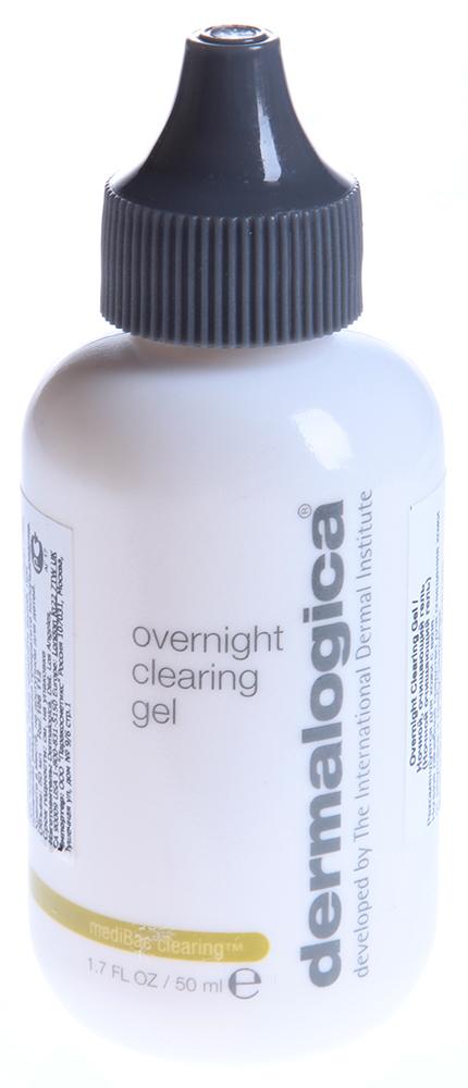 DERMALOGICA Гель очищающий ночной / Overnight Clearing Gel MEDIBAC 50млГели<br>Ночной очищающий гель Overnight Clearing Gel очищает закупорки фолликулов, оказывает себорегулирующее действие, предотвращая появление воспалительных элементов. Салициловая кислота стимулирует естественную эксфолиацию за счет очищения закупоренных фолликул. Конский каштан, ниацинамид, экстракт дрожжей, кофеин нормализуют выделение себума. Масло чайного дерева способствует заживлению микротравм эпидермиса, зеленый чай оказывает общее успокаивающее действие, гиалуроновая кислота поддерживает оптимальный баланс увлажненности.  Активные ингредиенты: Салициловая кислота, конский каштан, ниацинамид, экстракт дрожжей, кофеин, масло чайного дерева, зеленый чай, гиалуроновая кислота.  Способ применения: Вечером нанесите тонким слоем на кожу и дайте впитаться. Утром смойте с помощью Clearing Skin Wash, затем для максимального результата нанесите Clearing Mattifier на проблемные участки. Используйте каждый вечер или по мере необходимости.<br><br>Вид средства для лица: Очищающий<br>Время применения: Ночной