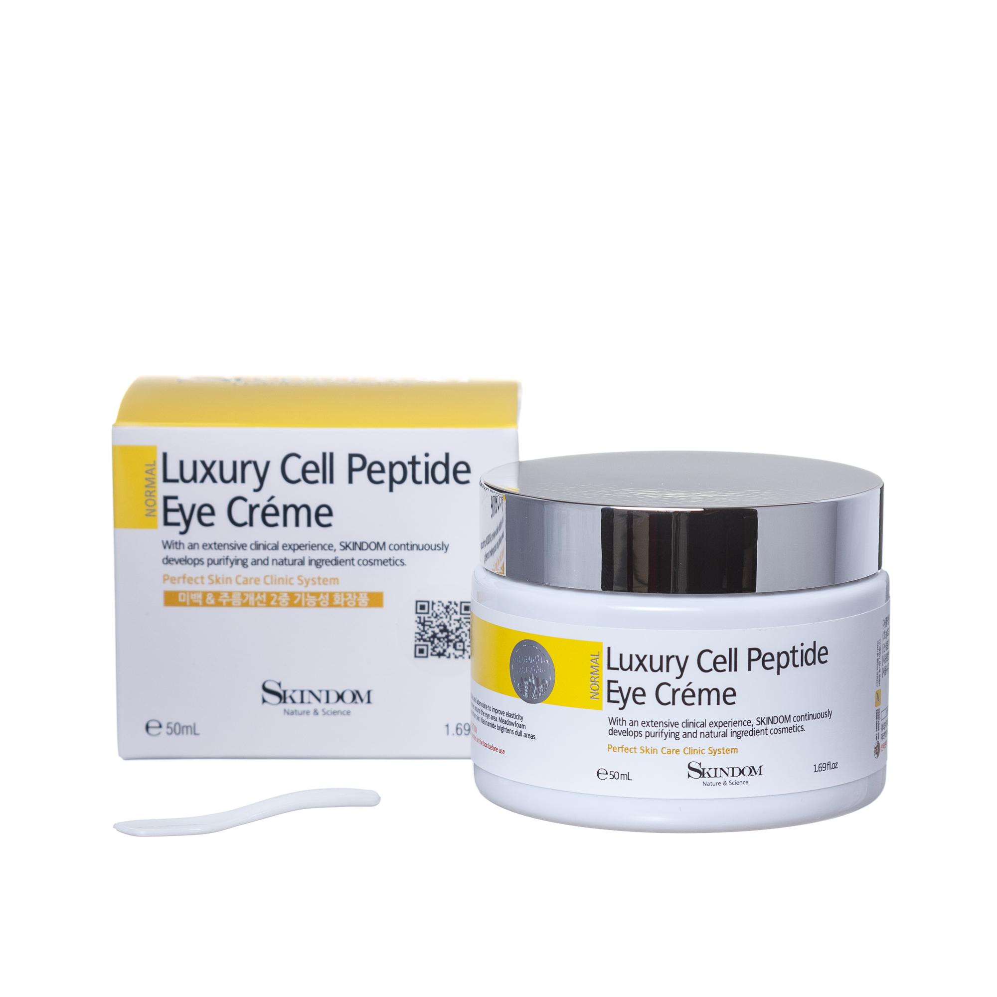 Купить SKINDOM Крем для кожи вокруг глаз с пептидами / LUXURY CELL PEPTIDE EYE CREAM 50 мл