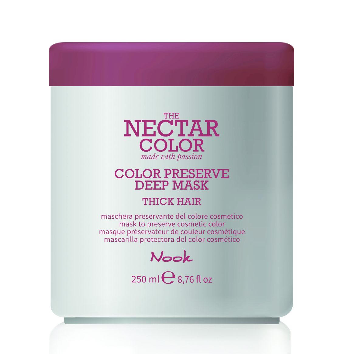 NOOK Маска для ухода за жесткими окрашенными волосами / Color Preserve Deep Mask - Thick Hair to preserve cosmetic color 250 мл.
