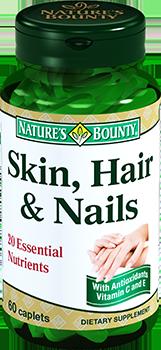 NATURES BOUNTY Кожа, волосы, ногти, капсулы № 60