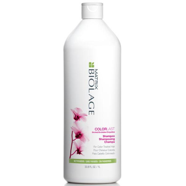 MATRIX Шампунь для окрашенных волос / БИОЛАЖ КОЛОРЛАСТ 1000млШампуни<br>Со временем окрашенные волосы могут потускнеть и потерять свой глянцевый блеск. Вдохновленный способностью орхидеи сохранять яркость цвета, шампунь Биолаж КолорЛаст защищает глубину цвета и придает блеск для поддержания красоты окрашенных волос*. Благодаря низкому уровню pH шампунь продлевает насыщенность цвета окрашенных волос. Деликатно очищает окрашенные волосы, предотвращая вымывание цвета. *При использовании в системе с Кондиционером для окрашенных волос КолорЛаст. Активные ингредиенты: экстракт орхидеи. Способ применения: нанести на влажные волосы, распределить массирующими движения. Тщательно смыть. В случае попадания в глаза немедленно промыть водой. Рекомендован к использованию в системе с Кондиционером КолорЛаст для поддержания здоровья окрашенных волос.<br><br>Типы волос: Окрашенные
