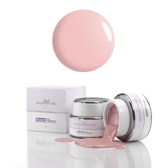 MOZART HOUSE Гель-файбер однофазный камуфляжный / ADVANCED Pink Gel 50 мл - Наращивание