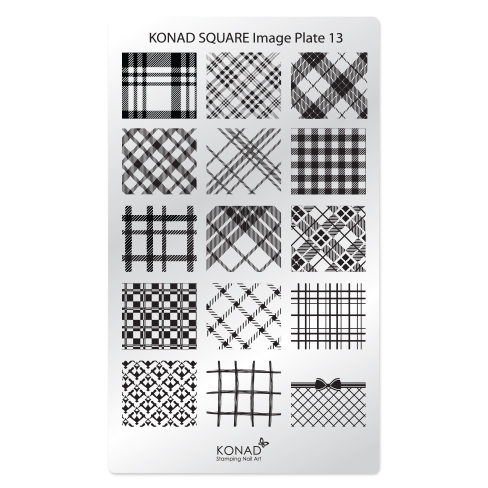 KONAD Пластина прямоугольная / Square Image Plate13 30гр