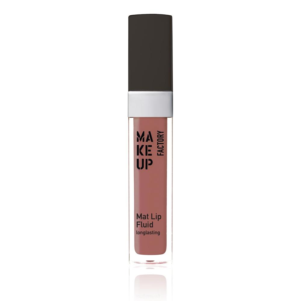 MAKE UP FACTORY Блеск-флюид матовый устойчивый, 52 нежно-лиловый / Mat Lip Fluid longlasting 6,5 мл - Блески для губ