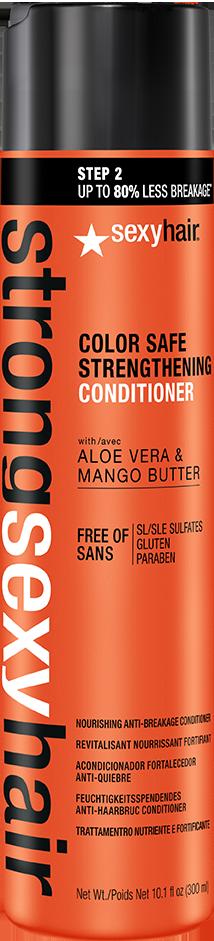 SEXY HAIR Кондиционер для прочности волос / Strong 300 млКондиционеры<br>Кондиционер обеспечивает необходимое питание, увлажнение и блеск ломким и возрастным волосам. Входящие в состав с масло манго, экстракт алоэ вера и комплекс аминокислот позволяют предотвратить ломкость волос до 80% после первого применения и вернуть волосам их природную силу и эластичность. Помогает сохранить цвет окрашенных волос. Активные ингредиенты: новая линия Strong Sexy Hair с маслом манго, экстрактом алоэ вера, комплексом аминокислот и пептидами овса разработана специально для поврежденных ломких и возрастных волос.&amp;nbsp;<br>