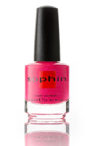 SOPHIN Лак для ногтей, неоновый ярко-розовый песок 12мл