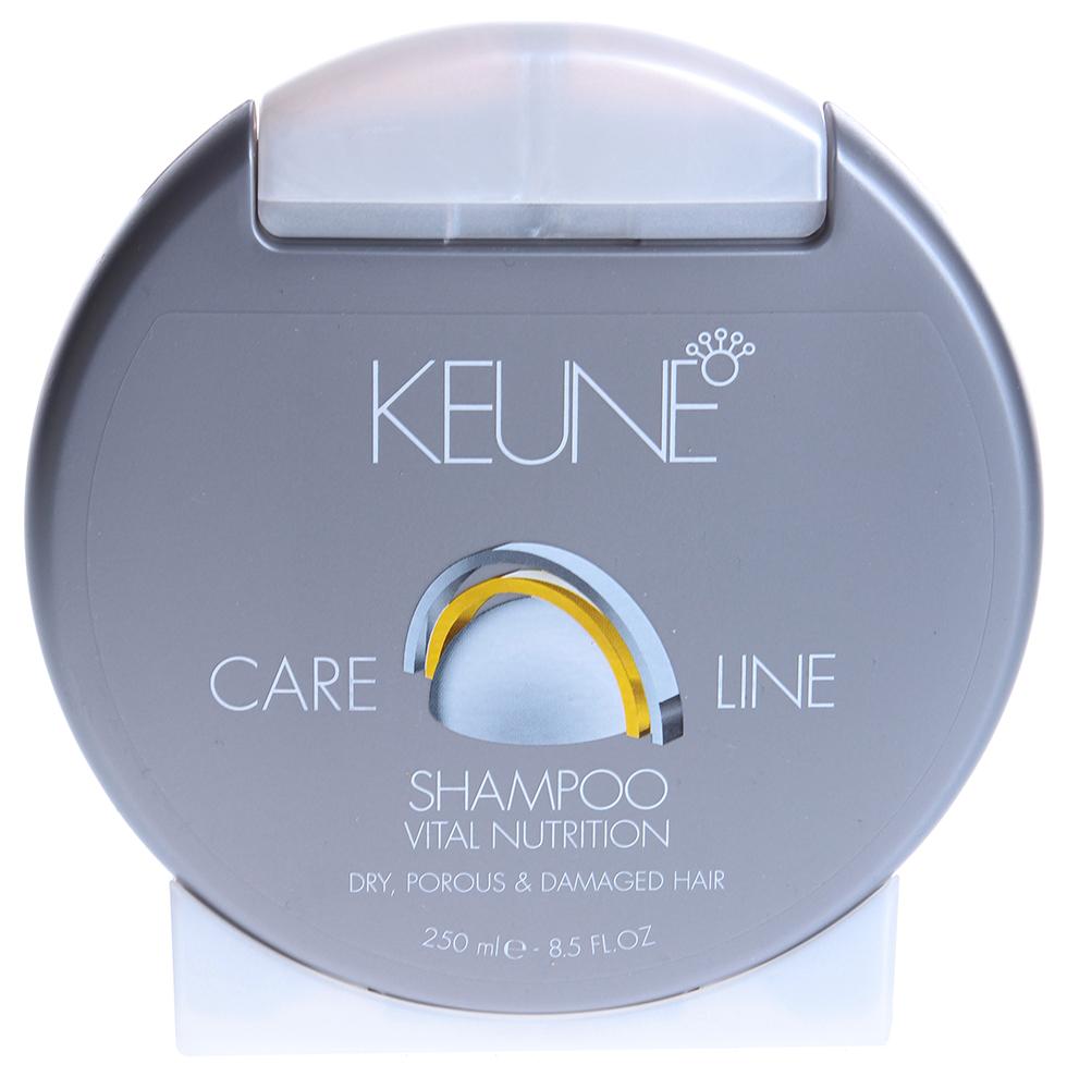 KEUNE Шампунь Кэе Лайн Основное питание / CL NUTRITION SHAMPOO 250млШампуни<br>Мягкий шампунь для сухих, пористых и поврежденных волос. Технология Инъекции питания, Природные минералы, Провитамин В5 и Протеины Пшеницы питают волосы и восстанавливают баланс влажности. Придает волосам блеск и гибкость. Активный состав: Минералы, провитамин В5, протеины пшеницы. Применение: Нанести необходимое количество шампуня на волосы, массировать волосы. Тщательно сполоснуть. Снова нанести небольшое количество шампуня и массировать кончиками пальцев волосы и кожу головы в течение 2-х минут. Тщательно смыть.<br><br>Объем: 250<br>Вид средства для волос: Питательный
