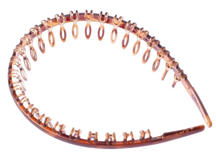 LA FRANCE Ободок-гребень, коричневый 01917-03M - Особые аксессуары