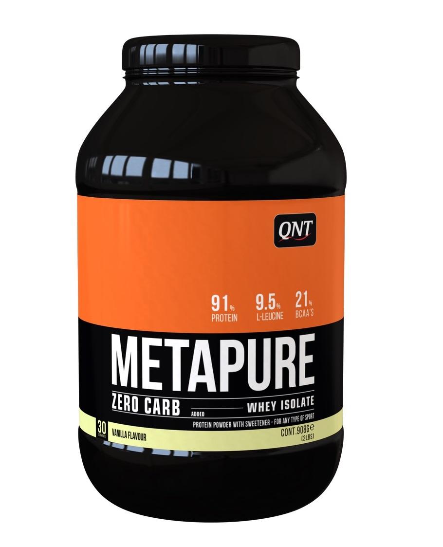 Купить QNT Добавка биологически активная к пище Метапьюр зеро карб, ваниль / ZERO CARB METAPURE Vanilla 908 г
