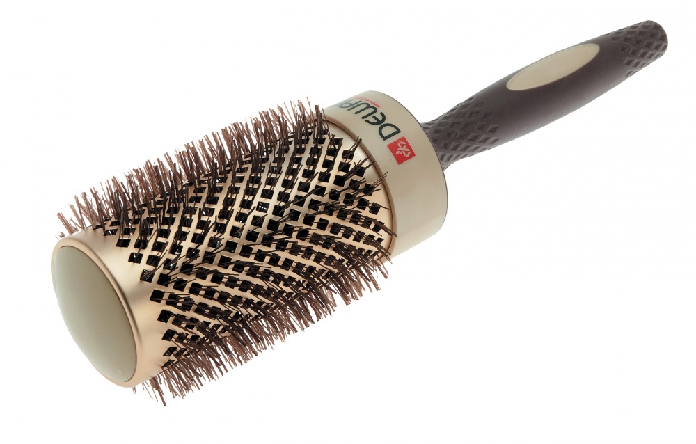 DEWAL PROFESSIONAL Термобрашинг Премиум, керамическое покрытие, волнистая нейлоновая щетина, литая ручка d 53/70 мм