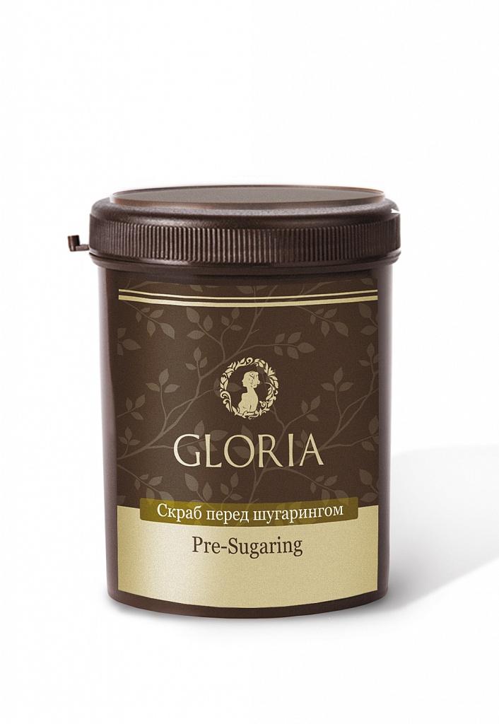 GLORIA Скраб перед шугарингом 800 грСкрабы<br>За счет содержащегося в составе кофеина этот скраб эффективно борется с эффектом апельсиновой корки, способствует уменьшению объемов жировых отложений особенно в области бедер и талии. Масла какао и карите делают кожу более упругой и эластичной, а морская соль насыщает кожу минералами и микроэлементами. Все это делает кофейный скраб незаменимым средством в комплексных программах коррекции фигуры. Кофейный аромат окажет тонизирующее воздействие, придаст сил с утра, и хорошее настроение не покинет Вас на протяжении всего дня. Активные ингредиенты: глюкоза, фруктоза, вода, экстракт календулы, экстракт ромашки, экстракт алоэ вера, соль морская. Способ применения: скраб прост в применении   пользоваться им могут даже непрофессионалы. После нанесения средство не требуется смывать, вместо этого можно сразу приступать к процедуре эпиляции.средство используется в Антицеллюлитных программах  1 и  2, а также как самостоятельное средство.<br>