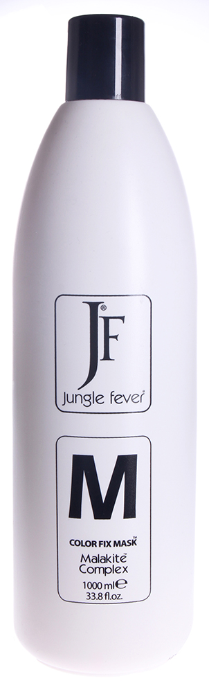 JUNGLE FEVER Маска для фиксации цвета / Color Fix Mask COLOR FIX LINE 1000млМаски<br>Маска, фиксирующая цвет волос предназначена для фиксации цвета при использовании в комплексе с шампунем, фиксирующим цвет волос Jungle Fever. Содержит Малахитовый комплекс (Malakite Complex ). Придаёт волосам силу, блеск, объём, восстанавливает защитную кислотную мантию волос, обладает кондиционирующим эффектом. Идеально подходит для любого типа волос. Активные ингредиенты: малахитовый комплекс (Malakite Complex ). Состав: Aqua/Вода, Cetearyl Alcohol/Цетеариловый спирт, Cetrimonium Chloride/Цетримония хлорид, Glyceryl Laurate/Глицерил лаурат, Amodimethicone/ Амодиметикон, Parfum/Парфюмерная композиция, Benzyl Alcohol/Бензиловый спирт, Linalool/Линалоол, Trideceth-10/Тридецет-10, Limonene/Лимонен, Citric Acid/Лимонная кислота, Methylchloroisothiazolinone/Метилхлороизотиазолинон, Malachite Extract/Экстракт малахита, Methylisothiazolinone/Метилизотиазолинон. Способ применения: после мытья волос с использованием шампуня фиксирующего цвет волос Jungle Fever, нанесите небольшое количество маски на концы волос. Расчешите волосы, оставьте на 3 - 5 мин. и хорошо промойте теплой водой. Приступайте к моделированию .<br><br>Типы волос: Окрашенные