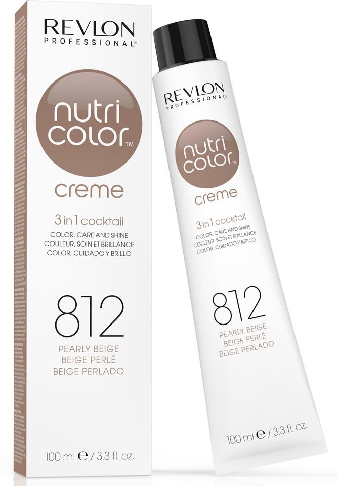 Купить REVLON Professional 812 краска 3 в 1 для волос, жемчужный бежевый / NUTRI COLOR CREME 100 мл