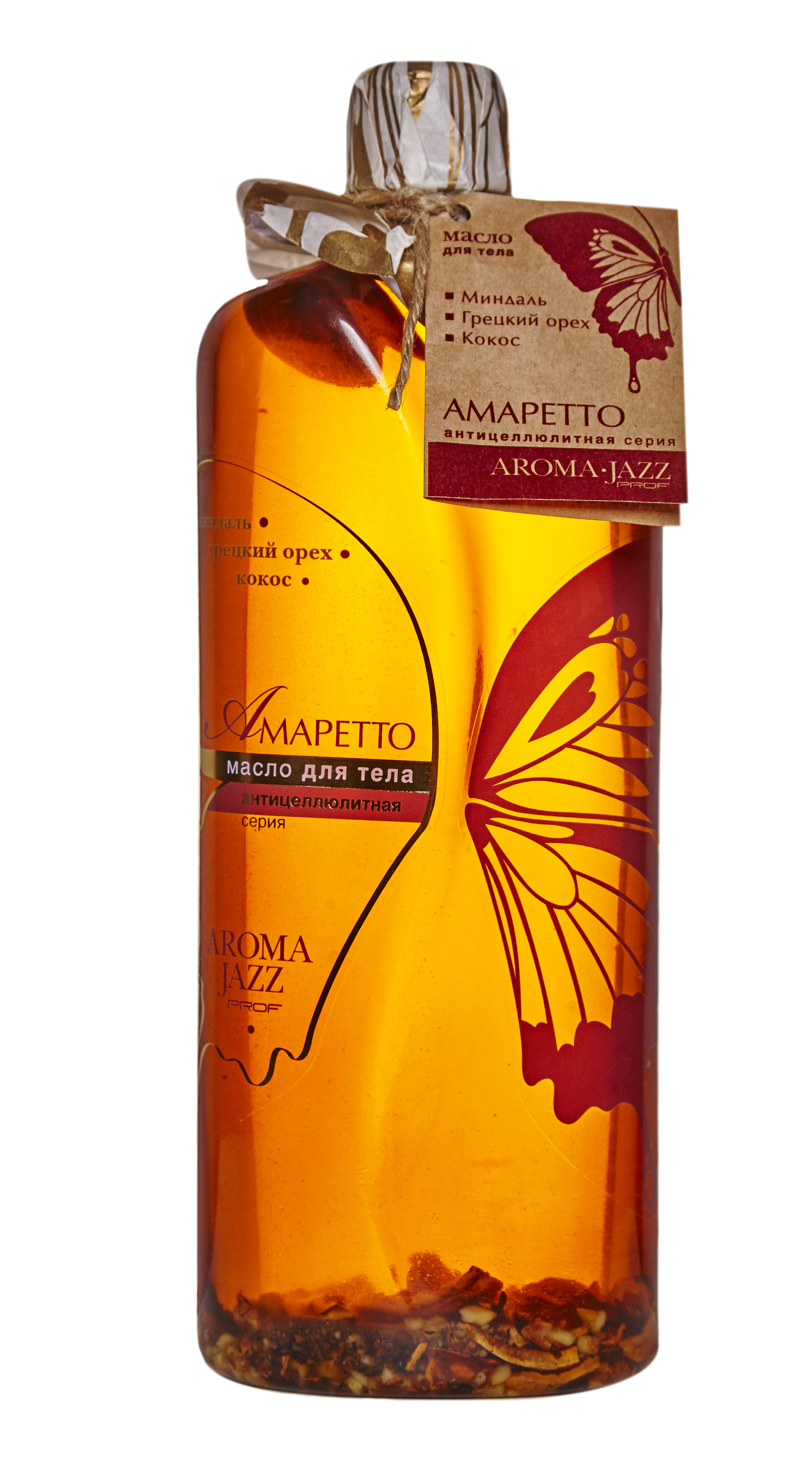 "AROMA JAZZ Масло массажное жидкое для тела ""Амаретто"" 1000мл"