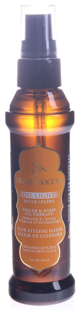 MARRAKESH Масло легкое восстанавливающее для тонких волос Dreamsicle/Marrakesh Oil Light Dreamsicle 60 млМасла<br>Линия Dreamsicle - бодрящее сочетание эфирного масла мандарина и фитоактивов сливы. Основные преимущества: - Супер легкая версия масла Marrakesh для тонких волос - Заметно улучшает состояние самых тонких, поврежденных, слабых волос - Не утяжеляет тонкие волосы - Делает волосы шелковистыми и гладкими - Надолго устраняет пушение - Добавляет волосам блеск - в 2 раза сокращает время сушки волос - Подходит для окрашенных волос - Масла Арганы и Конопли улучшают состояние волос и их текстуру, делают волосы послушными и эластичными - Волосы на ощупь становятся гладкими и шелковистыми - Делает волосы более гибкими и упрощает укладку - Легкая текстура подходит для всех типов волос Способ применения: нанесите небольшое количество на влажные или сухие волосы. Расчешите для равномерного распределения.<br><br>Объем: 60 мл<br>Вид средства для волос: Восстанавливающий