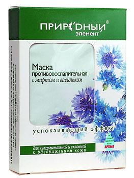 ПРИРОДНЫЙ ЭЛЕМЕНТ Маска противовоспалительная с миртом и васильком (1х10мл)