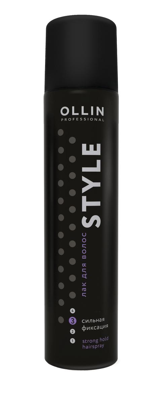 OLLIN PROFESSIONAL Лак для волос сильной фиксации / STYLE 50мл ollin professional крем моделирующий средней фиксации для волос medium fixation hair styling cream style 200мл