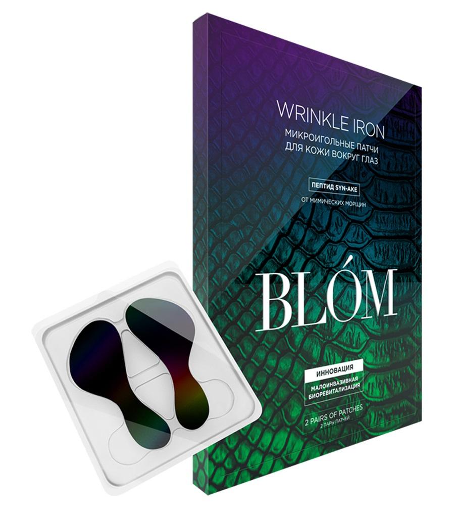 BLOM Патчи микроигольные для глаз SYN-AKE + гиалуроновая кислота / Wrinkle Iron 2 пары
